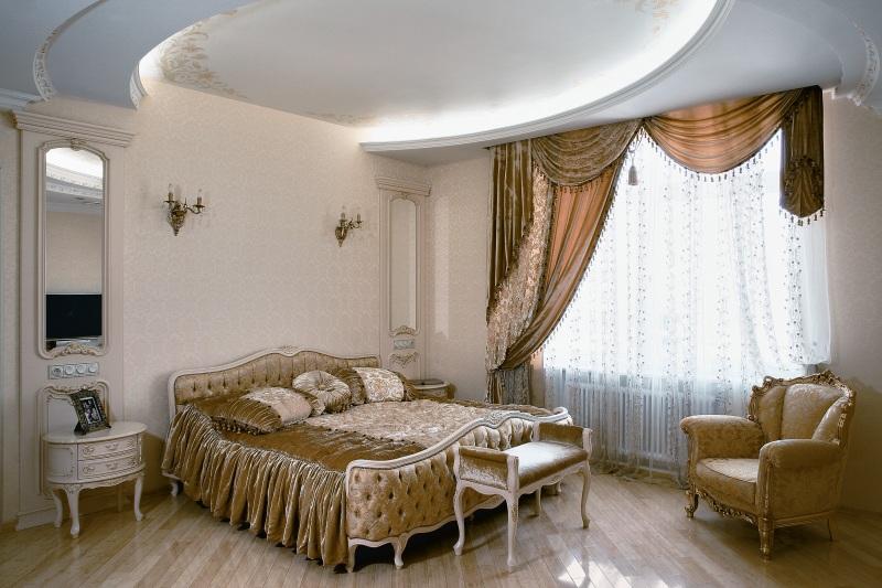 Люстры потолочные в интерьере спальни фото