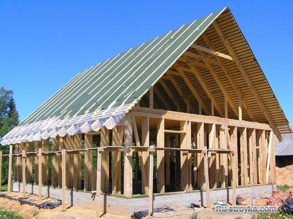 Строим дом из брус а своими руками