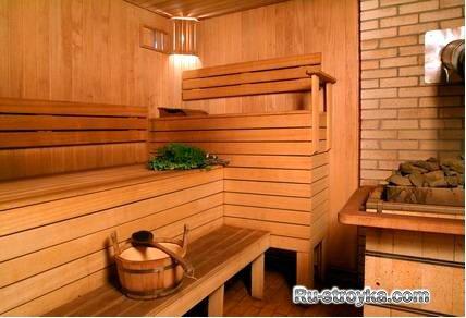 фото баня в доме