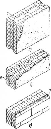 Виды облегченных кладок стен