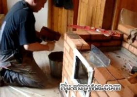 Укладка кирпича в печь печником