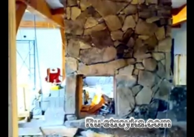 Каменный камин в Каркасные дома