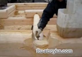 Строительство срубов: нанесение антисептика