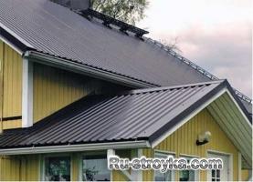 Обшивка крыши дома