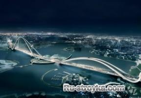 Подвесной мост в Дубайях.