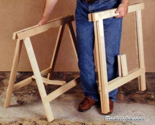 Изготовление строительных козлов