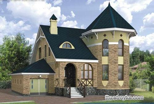 Изящный кирпичный дом абрис