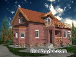 Просторный кирпичный дом