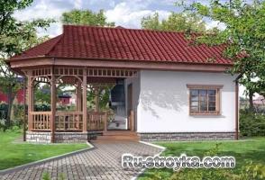 Проект Уютная загородная баня H-028