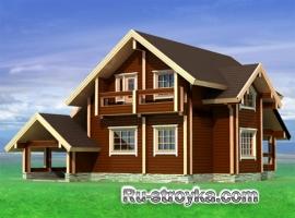Комфортабельный деревянный коттедж