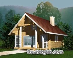 Комфортный деревянный коттедж