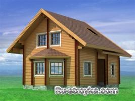 Просторный деревянный коттедж