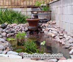 Практика: засаживание мини-водоема.
