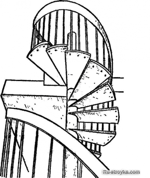 Лестницы на обсадной трубе
