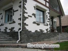 Облицовка фасадов искусственным камнем.