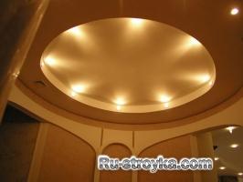 Освещение в подвесном потолке.