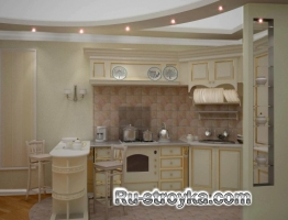 Потолок в кухне.