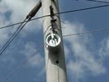 Оптический кабель на опорах, монтаж