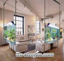 Типы аквариумов для интерьера.