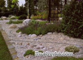 Сады с применением гравия