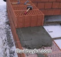 Каменная кладка в зимних условиях