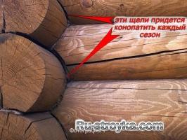 Появления щелей в деревянных домах