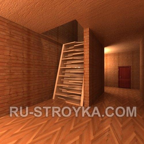 Лестница. Ступеньки под коленку