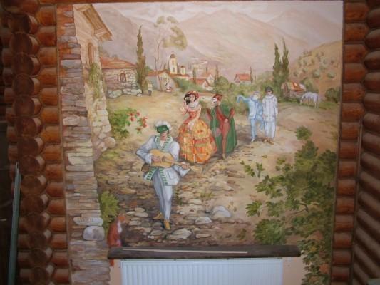 Художесвенная роспись стен и потолка в вашем доме.