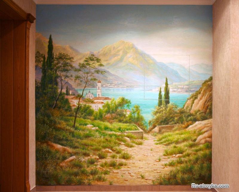 Технология роспись стен акрилом