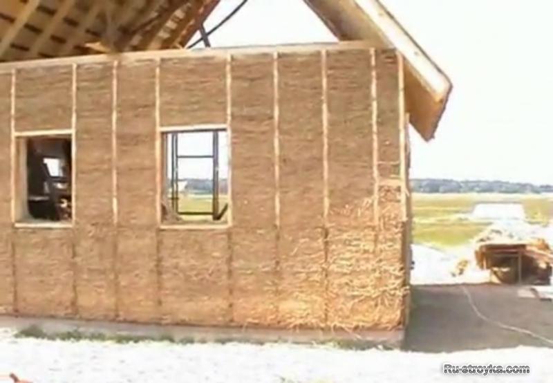 Делаем дом из соломы