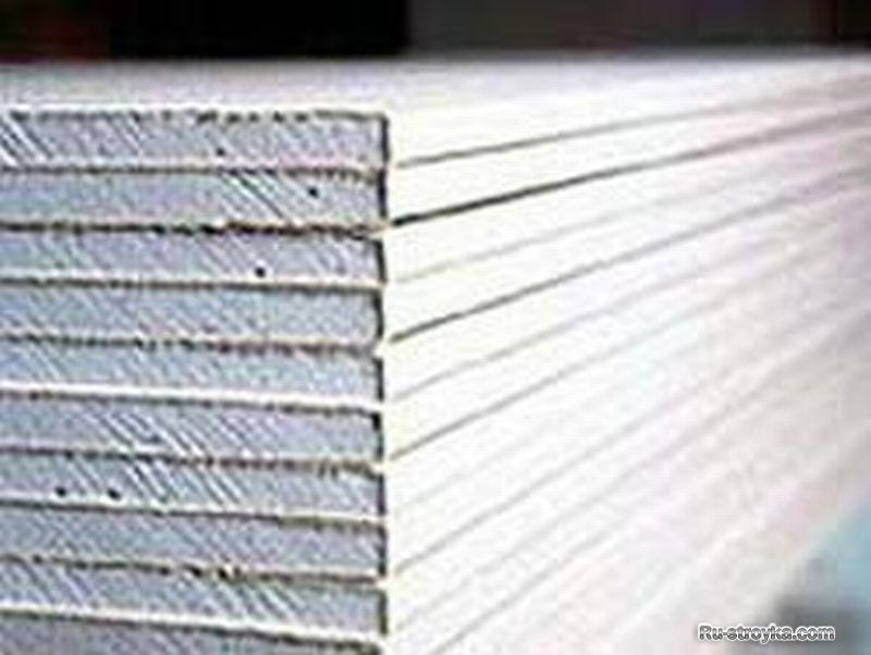 Гипсокартон имеет следующий размерный ряд: длина от 2,5м до 3,5м