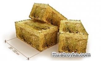 Материал для дома из соломы.