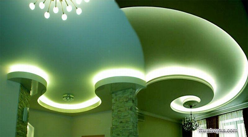 Криволинейные потолки из гипсокартона - 2.