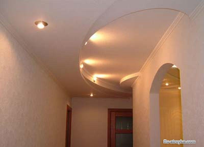 Криволинейные потолки из гипсокартона - 1.