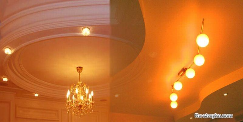 Разноуровневые потолки из гипсокартона.