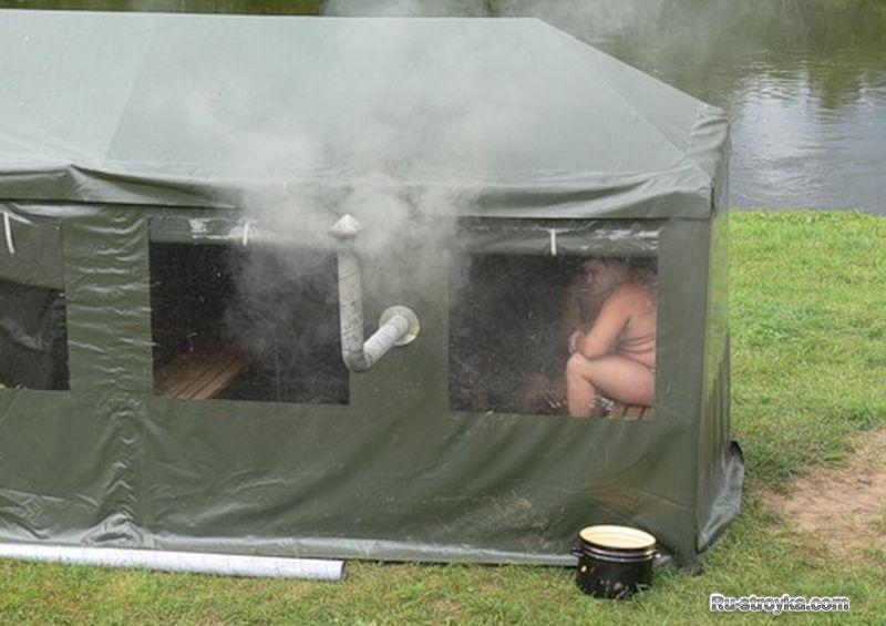 Как сделать баню в походных 85