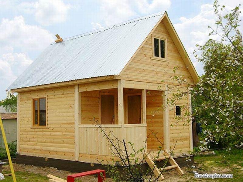 Строим домик своими руками фото