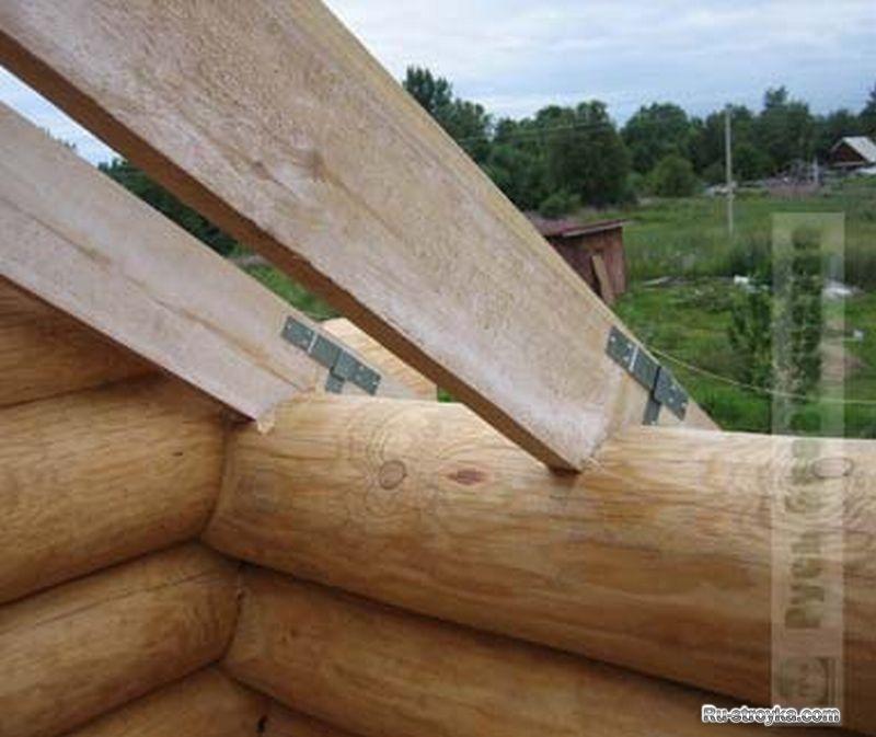 крыша на сруб фото