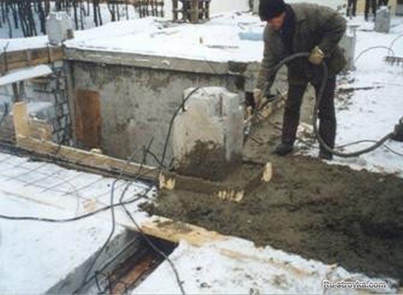 Заливка бетона зимой своими руками 90