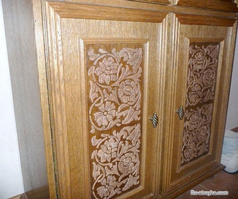 Декор на шкаф дерево