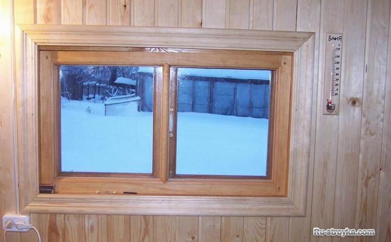 Деревянные окна для бани своими руками 942