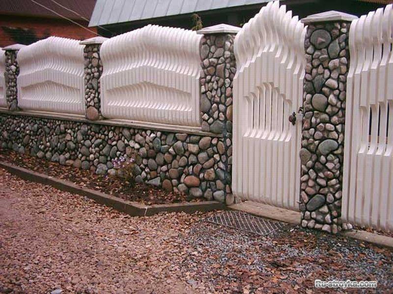 Красивый забор своими руками из доски 392