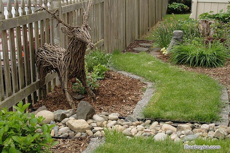 Украшаю сад своими руками фото