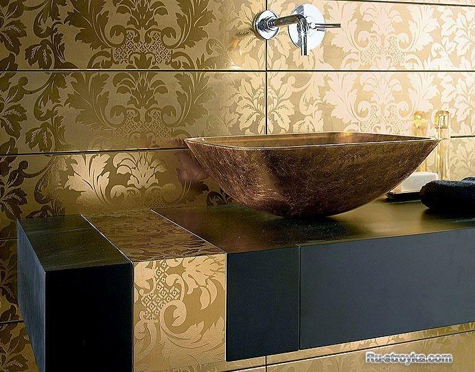 Дизайн керамической плитки для ванной комнаты фото.