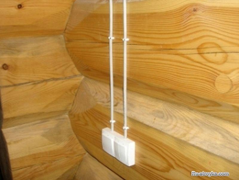 Наружная электропроводка в деревянном доме 42