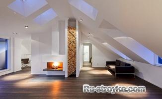 Современная идея хранения дров в дизайне.