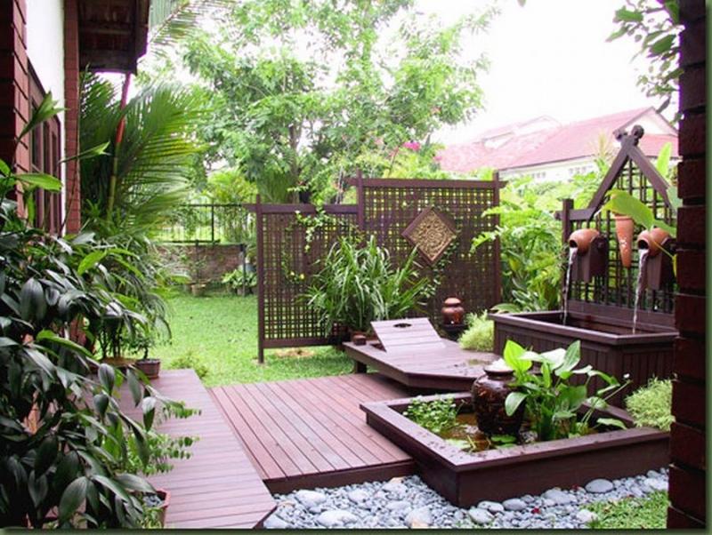 Ландшафтный дизайн маленького двора фото