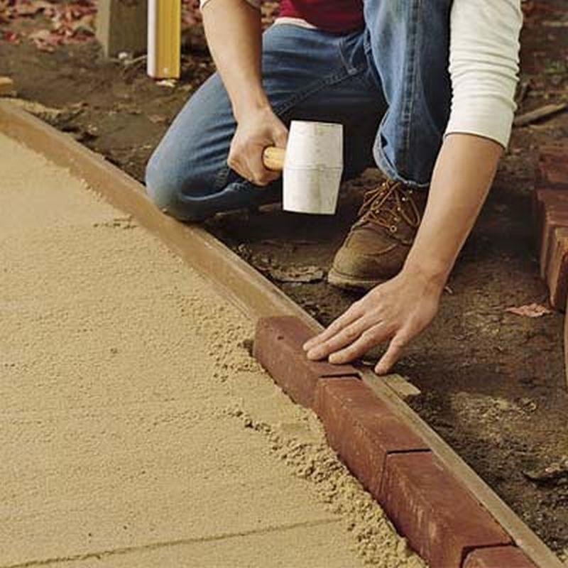 Как сделать плитку и бордюры своими руками