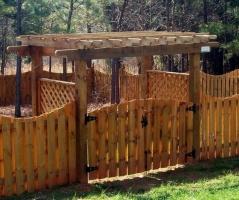 Беседка с воротами