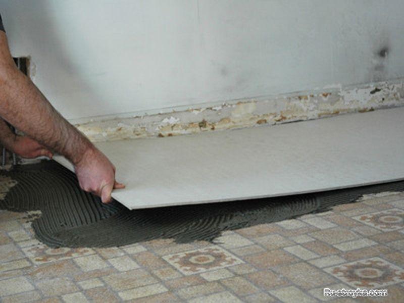 Укладка плитки по плитам цсп